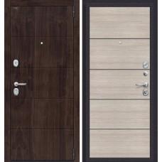 Дверь входная BRAVO Porta S 4.П50 Almon 28 / Cappuccino Veralinga