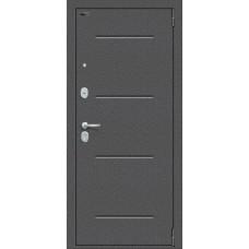 Дверь входная BRAVO Porta S 104.П61 Антик Серебро / Wenge Veralinga