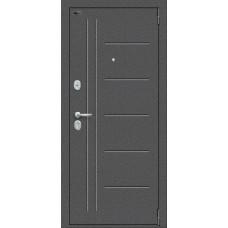 Дверь входная BRAVO Porta S 109.П29 Антик Серебро / Wenge Veralinga