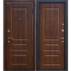 Дверь входная МеталЮр М11 Темный орех / Темный орех
