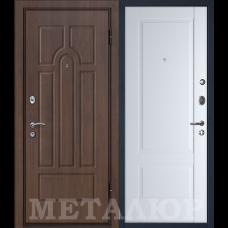Дверь входная МеталЮр М12 Венге / Аляска