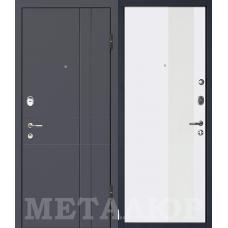 Дверь входная МеталЮр М16 Антрацит / Аляска