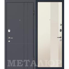 Дверь входная МеталЮр М16 Антрацит / Магнолия сатинат