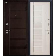 Дверь входная МеталЮр М17 Темная ива / Эш Вайт мелинга