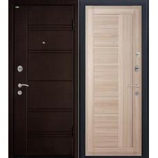 Дверь входная МеталЮр М17 Темная ива / Капучино мелинга