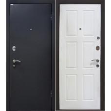 Дверь входная МеталЮр М21 Черный шелк / Белый