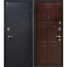 Дверь входная МеталЮр М21 Черный шелк / Венге
