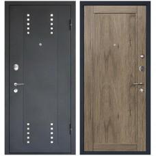 Дверь входная МеталЮр М26 Черный бархат / Дуб Салинас темный