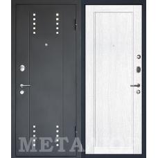 Дверь входная МеталЮр М26 Черный бархат / Монблан