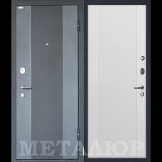 Дверь входная МеталЮр М27 Черный бархат и Серый металлик / Аляска