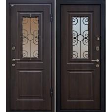Дверь входная МеталЮр М32 Темный орех / Темный орех