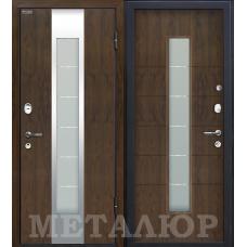 Дверь входная МеталЮр М34 Темный орех / Темный орех