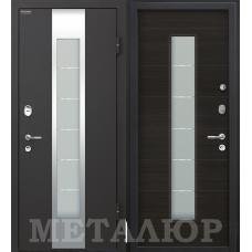 Дверь входная МеталЮр М35 Черный бархат / Эковенге