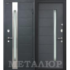 Дверь входная МеталЮр М36 Серый металлик / Антрацит