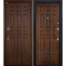 Дверь входная МеталЮр М3 Орех темный / Орех темный