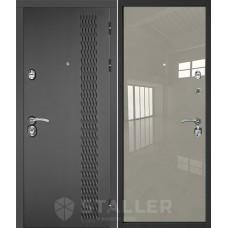 Дверь входная STALLER Лика Черно-серый / Галька люкс