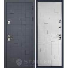 Дверь входная STALLER Метро 2 Антрацит / Белый