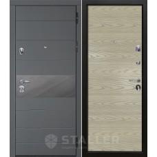Дверь входная STALLER Натта Графит / Дуб скай Крем