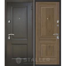 Дверь входная STALLER Нова Дуб темный с патиной / Дуб Салинас темный