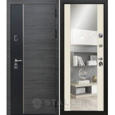 Дверь входная STALLER Стило Венге серый / Магнолия сатинат