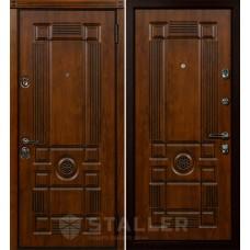 Дверь входная STALLER Рим Дуб темный с патиной / Дуб темный с патиной