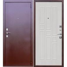 Дверь входная Verda Гарда 8 мм Антик Медь / Белый ясень