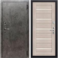 Дверь входная Verda SD Prof-10 Вектор Бетон темный / Лиственница кремовая