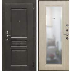 Дверь входная Verda SD Prof-10 Троя с зеркалом Венге / Дуб светлый