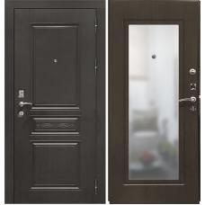 Дверь входная Verda SD Prof-10 Троя с зеркалом Венге / Орех темный