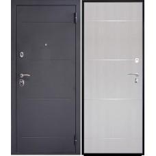Дверь входная Verda SD Prof-2 Молдинг Серебро темное / Беленый дуб