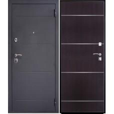 Дверь входная Verda SD Prof-2 Молдинг Серебро темное / Венге