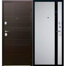 Дверь входная Verda SD Prof-36 Фортуна Горький шоколад / Дуб белый
