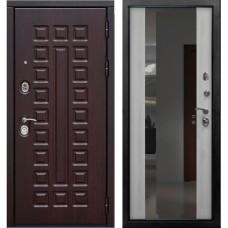 Дверь входная Verda SD Prof-5 Сенатор с зеркалом Венге / Светлый дуб