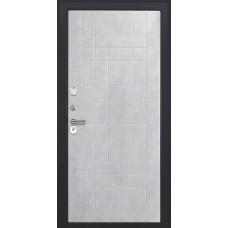 Дверь входная Luxor 37 черный муар с блестками и молдингом