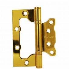 Петля универсальная без врезки Vantage 2BB PB золото