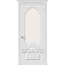Дверь эмаль BRAVO Скинни-33 Whitey СТ- Crystal