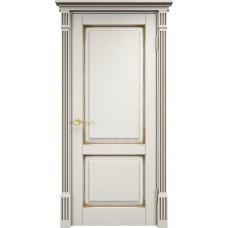 Дверь Арсенал 112ш ДГФ слоновая кость + патина орех