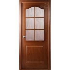 Дверь шпон Belwooddoors Капричеза ДО с раскладкой орех