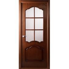 Дверь шпон Belwooddoors Каролина ДО с раскладкой орех
