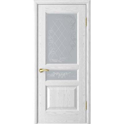 Дверь Luxor Атлант-2 ясень белая эмаль со стеклом