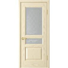 Дверь Luxor Атлант-2 ясень слоновая кость со стеклом