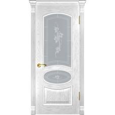Дверь Luxor Грация дуб белая эмаль со стеклом