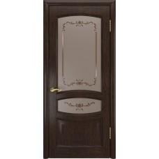 Дверь Luxor Деметра мореный дуб со стеклом