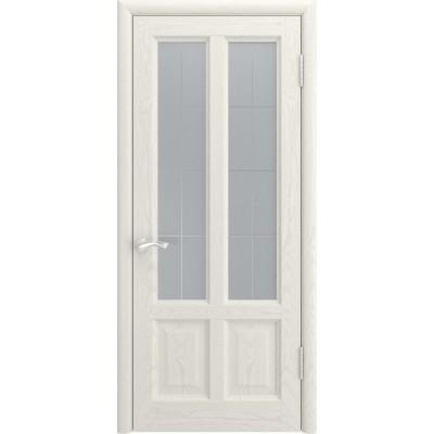 Дверь Luxor Титан-3 дуб RAL 9010 со стеклом