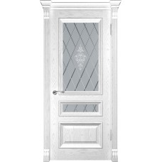 Дверь Luxor Фараон-2 дуб белая эмаль со стеклом
