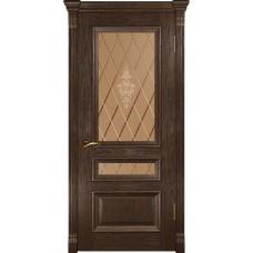 Дверь Luxor Фараон-2 мореный дуб со стеклом