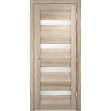Дверь экошпон Verda Casaporte Сицилия 12 капучино стекло белое