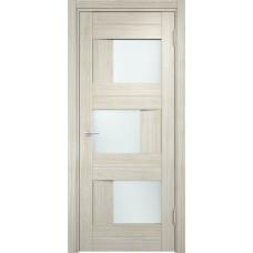Дверь экошпон Verda Casaporte Сицилия 14 беленый дуб мелинга стекло белое
